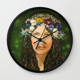 Lady Spring Wall Clock
