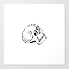 Skull Head Style Canvas Print