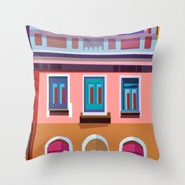 Manarola House, Cinque Terre, Italy Throw Pillow
