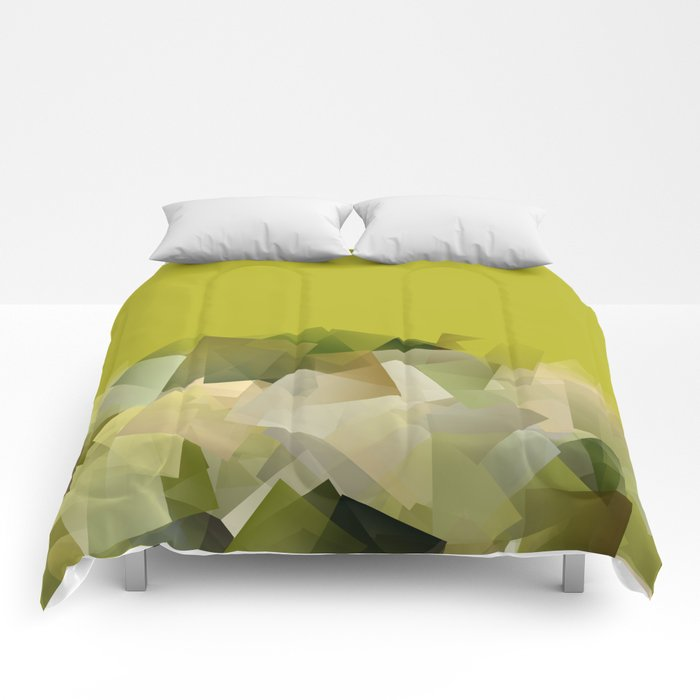 Mount St. Victory geometric. Design for Paul Cézanne Comforters