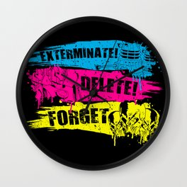 Exterminate! Delete! Forget.. Wall Clock