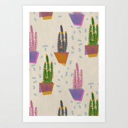 Cacti in the pot Art Print