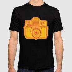 I Still Shoot Film Holga Logo - Reversed Yellow & Red Mens Fitted Tee Black SMALL