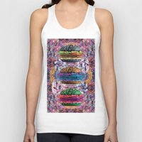 holographic Tank Tops featuring black burger doom zone by STORMYMADE