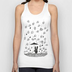 I'm only happy when it rains (skulls) Unisex Tank Top