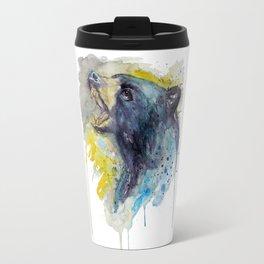 Black Bear Head Travel Mug