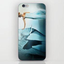 Blue Elephant iPhone Skin