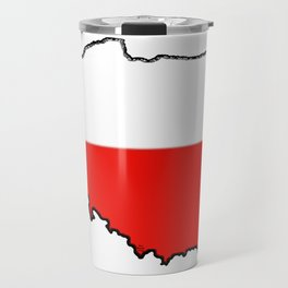 Poland Map with Polish Flag Travel Mug