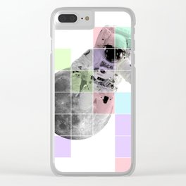 Man on The Moon Abstract Clear iPhone Case