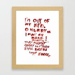 Dr. Scott's Note Framed Art Print