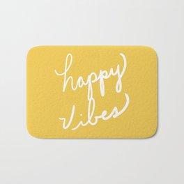 Happy Vibes Yellow Bath Mat
