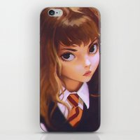 hermione iPhone & iPod Skins featuring Hermione by Mightymike
