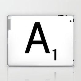 Letter A - Custom Scrabble Letter Wall Art - Scrabble A Laptop & iPad Skin