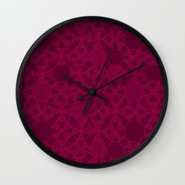 Abstract Minimalism in Raspberry Wall Clock