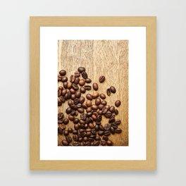 Morning Coffee Beans Framed Art Print