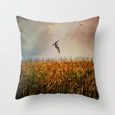 Soaring on the edge of a storm Throw Pillow