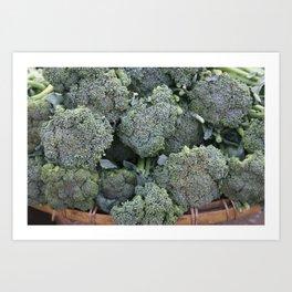 broccoli Flower in basket #food #society6 Art Print