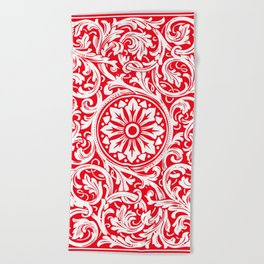 Playing Card (Red Back) Beach Towel