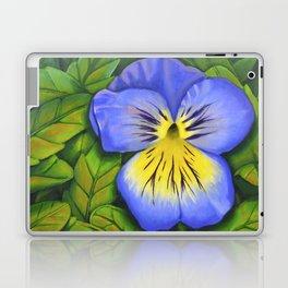 Purple Pansy Power Laptop & iPad Skin