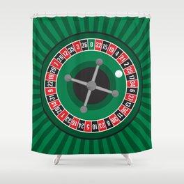 Roulette Wheel Shower Curtain
