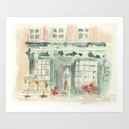 Covent Garden Shop Art Print