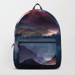 Mountain Lake Under the Stars Backpack