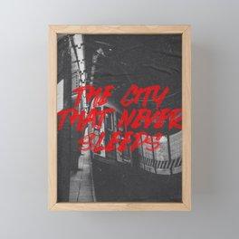 city that never sleeps Framed Mini Art Print
