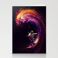 surfing Stationery Cards featuring Space Surfing by nicebleed