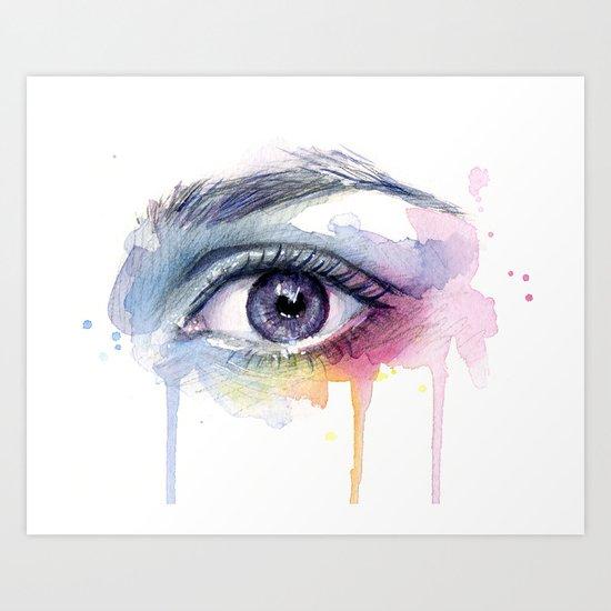 Colorful Eye Dripping Rainbow Art Print