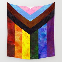 Progress Pride Quilt Wall Tapestry