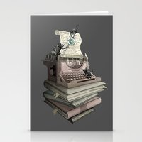 bookworm Stationery Cards featuring Bookworm by BlancaJP
