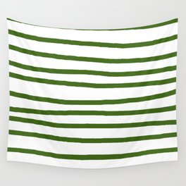 Simply Drawn Stripes in Jungle Green Wall Tapestry