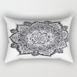 Black Flower Rectangular Pillow