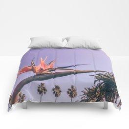 Birds of Paradise Print {2 of 3} | Palm Trees Ocean Summer Beach Magenta Photography Art Comforters
