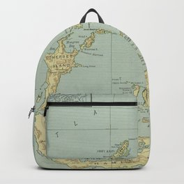 Old Bermuda Map (1924) Vintage Bermudian Island Nautical Chart  Backpack