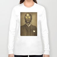 creepy Long Sleeve T-shirts featuring Baron Von Three PO  by Terry Fan