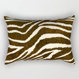 Animal Print Zebra in Winter Brown and Beige Rectangular Pillow