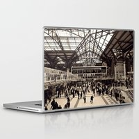 liverpool Laptop & iPad Skins featuring Liverpool Station by Roxana Lazăr