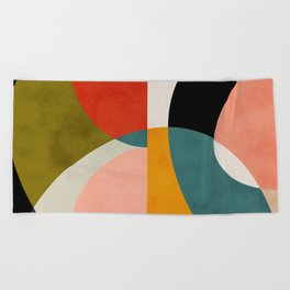 geometry shapes 3 Beach Towel
