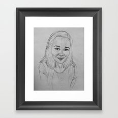 self portrait study in graphite Framed Art Print