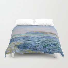 Shadows on the Sea at Pourville by Claude Monet Duvet Cover
