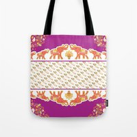 india Tote Bags featuring India by ASerpico Designs