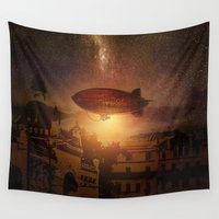 bioshock Wall Tapestries featuring A Trip down the Sunset II by Viviana Gonzalez