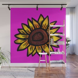 Yellow and Pink Wall Mural