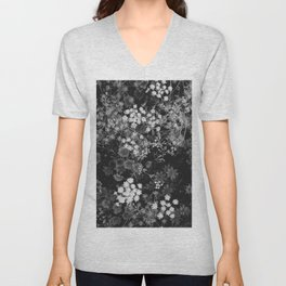 The Flowers (Black and White) Unisex V-Neck