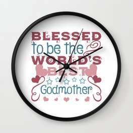 Blessed to be a Godmother Wall Clock
