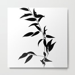 Trailing plant, abstract silhouette Metal Print