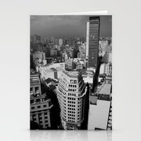 buildings Stationery Cards featuring Buildings by Roberta Vilas Boas