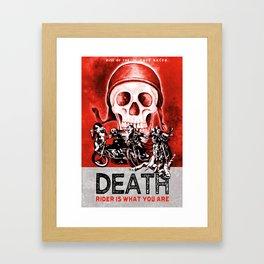 Death Rider III Framed Art Print