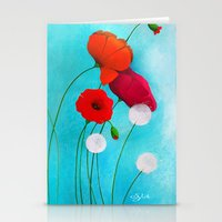 poppies Stationery Cards featuring Poppies by Sybile Art